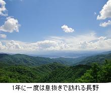 1年に一度は息抜きで訪れる長野